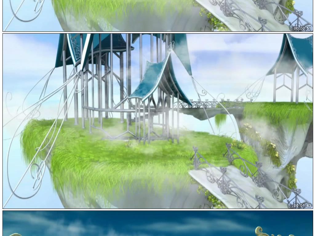 天空之城张信哲伴唱视频素材