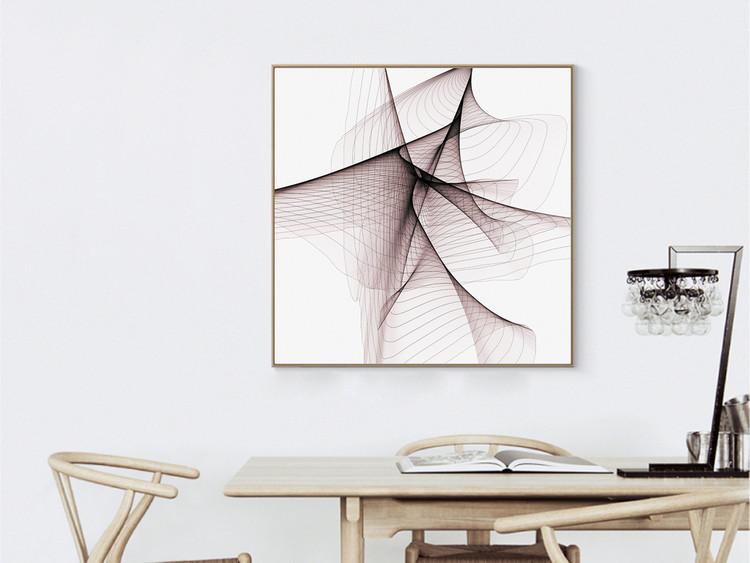 抽象线条几何结构装饰画北欧艺术无框画