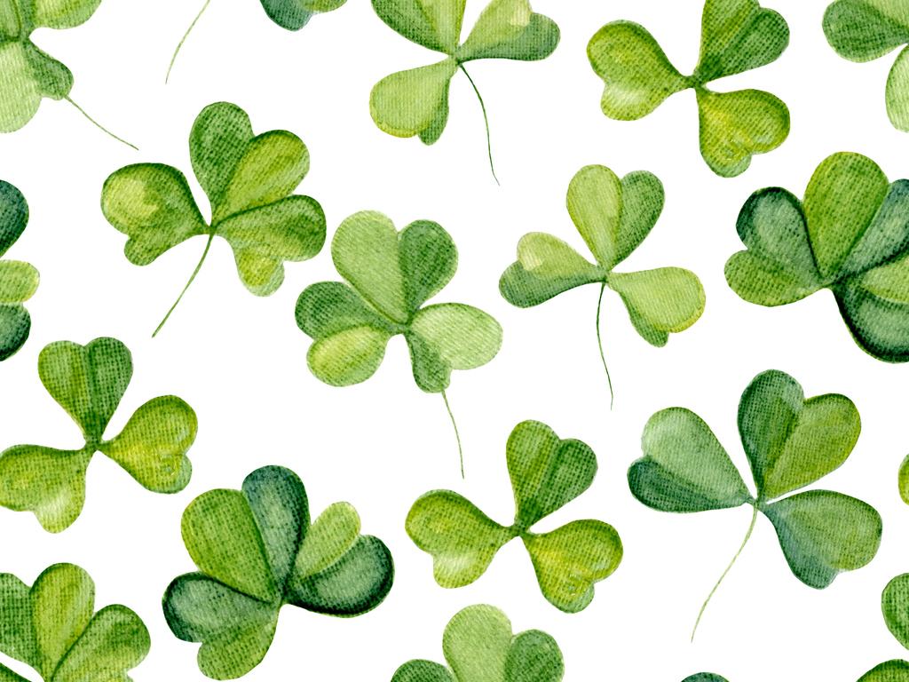 手绘水彩多肉植物叶子无缝印花图案图片设计素材_高清