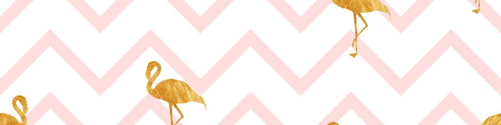 手绘水彩火烈鸟几何菱形波浪纹图案