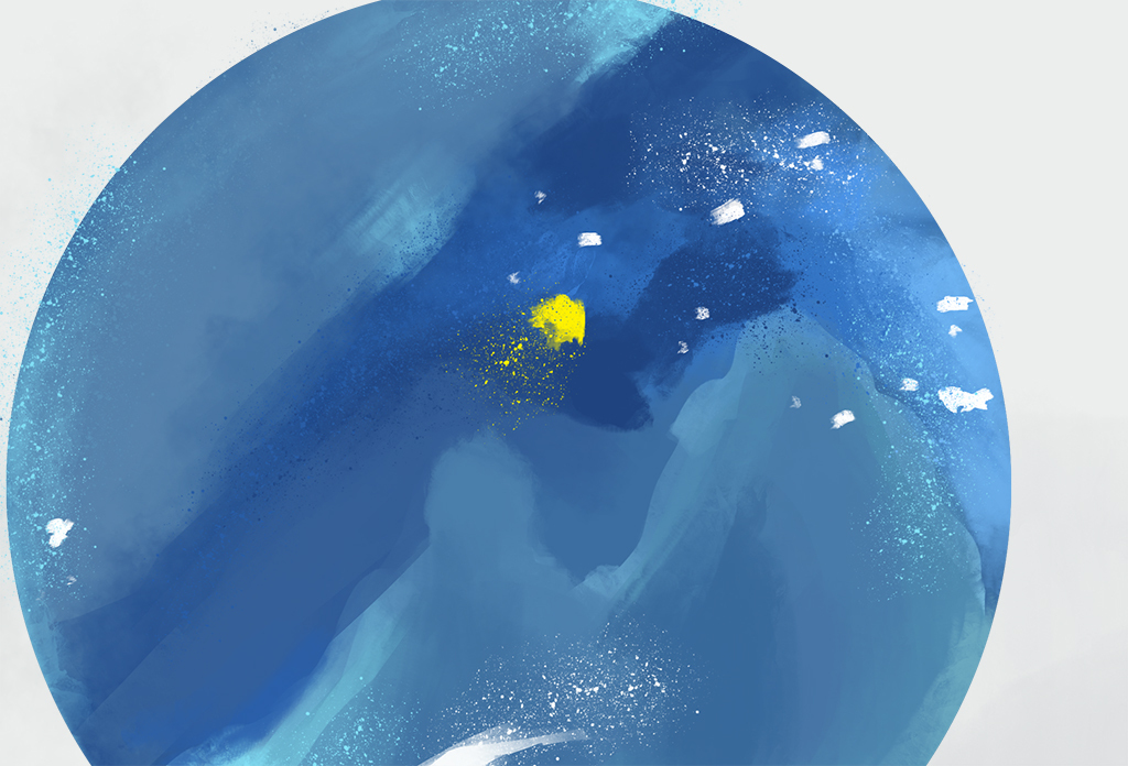 月亮                                  抽象手绘