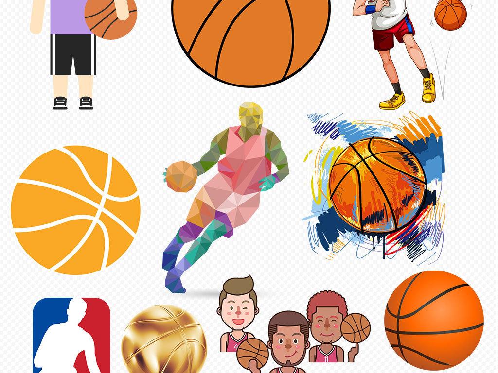 校园运动会卡通足球篮球PNG免扣素材图片下载png素材 效果素材