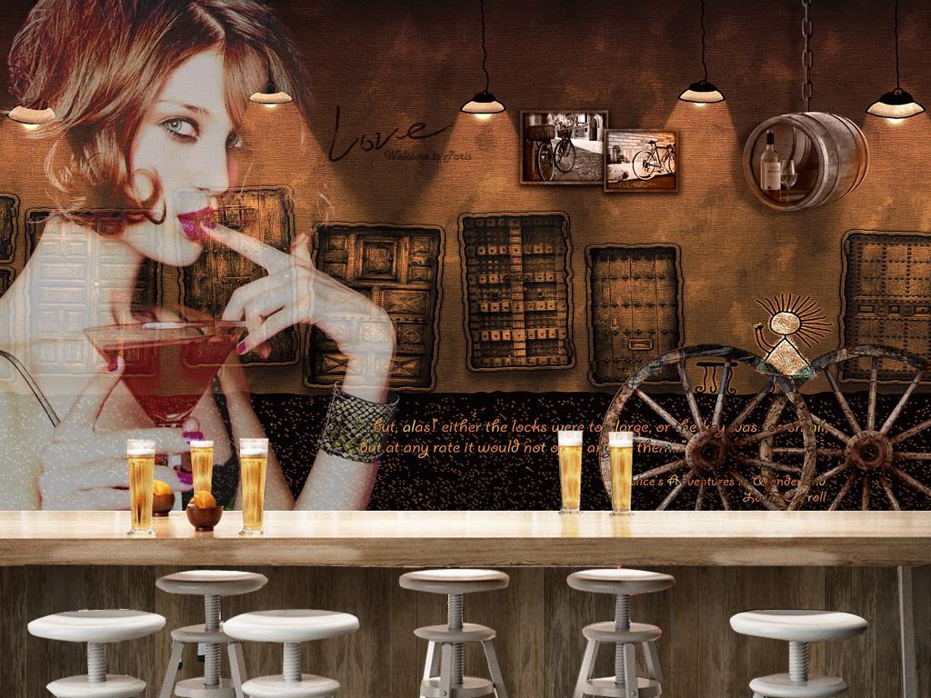 酒吧女被下药视频_复古酒吧美女背景墙