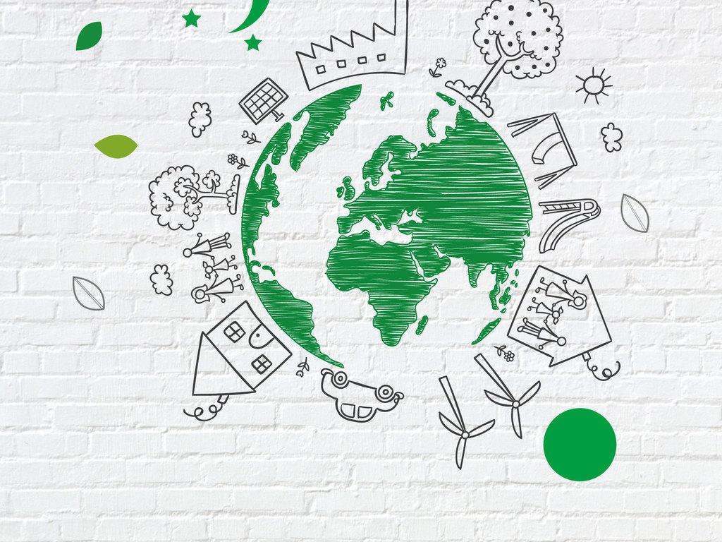 手绘地球环保低碳健康素材