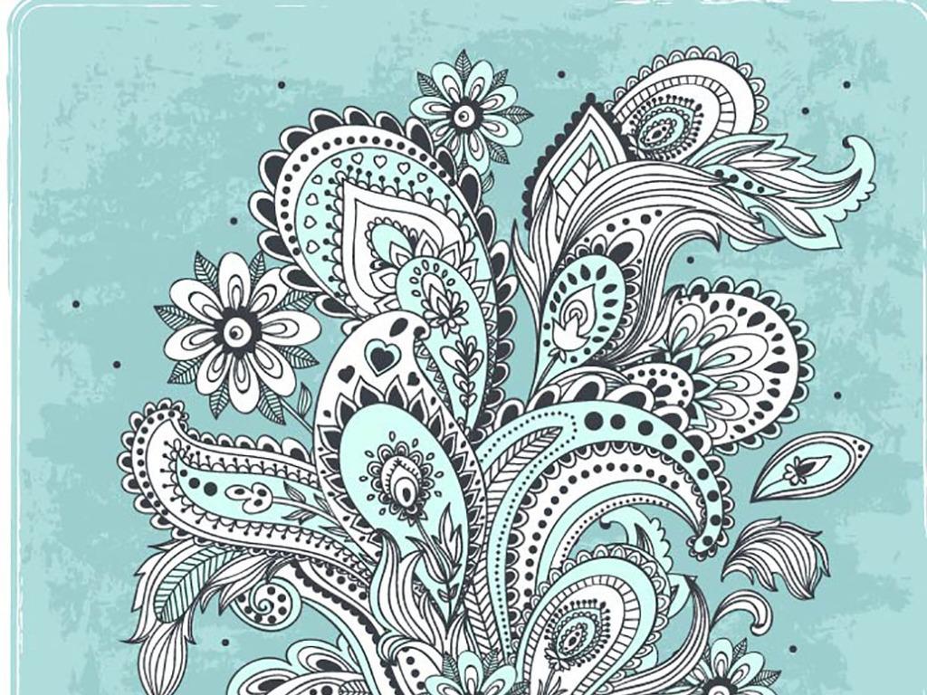 欧式花纹服装刺绣图案