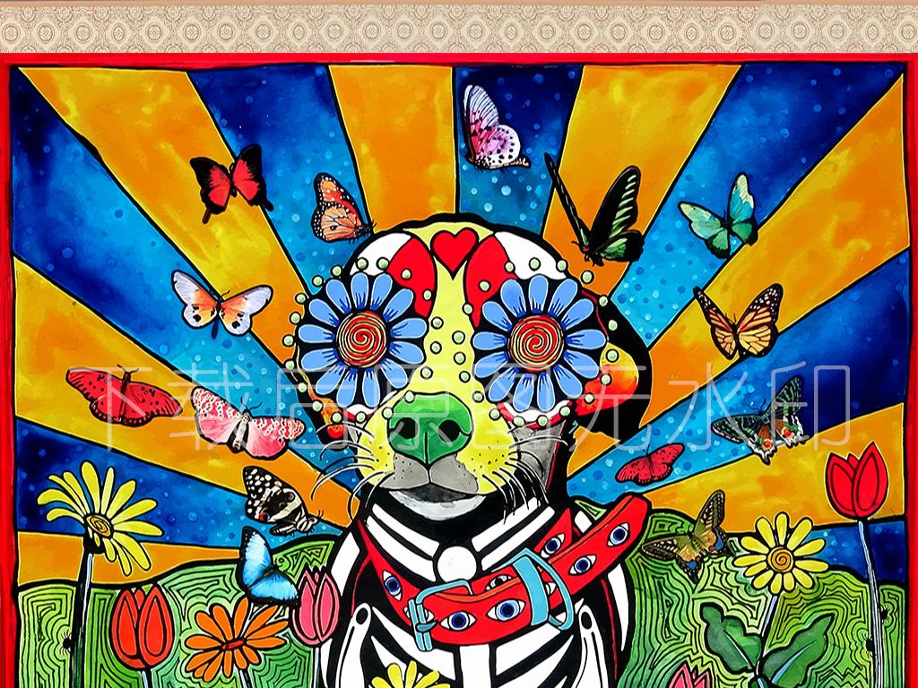 狗年电视背景墙