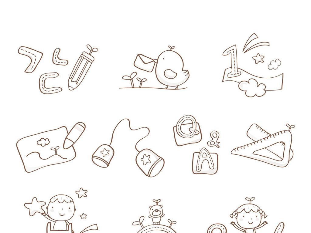 涂鸦卡通图案简笔画图片素材参数 编号 : 17021676 软件