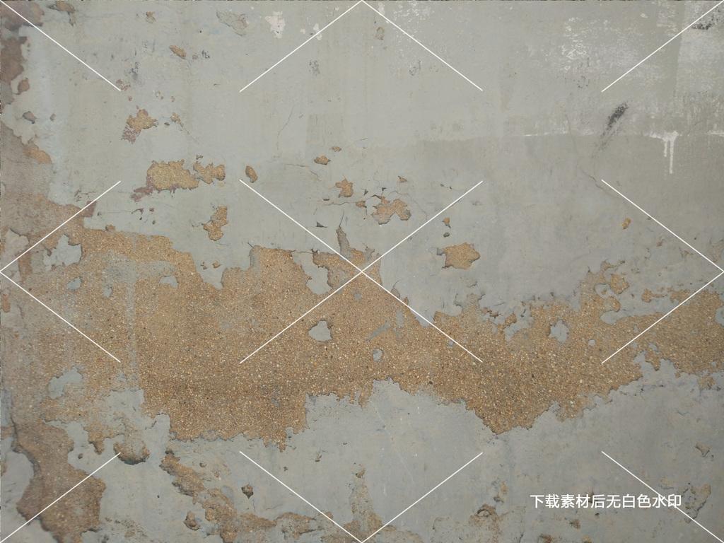 灰色橙色做旧墙面土墙肌理3D贴图质感背景图片素材 高清 位图大图下