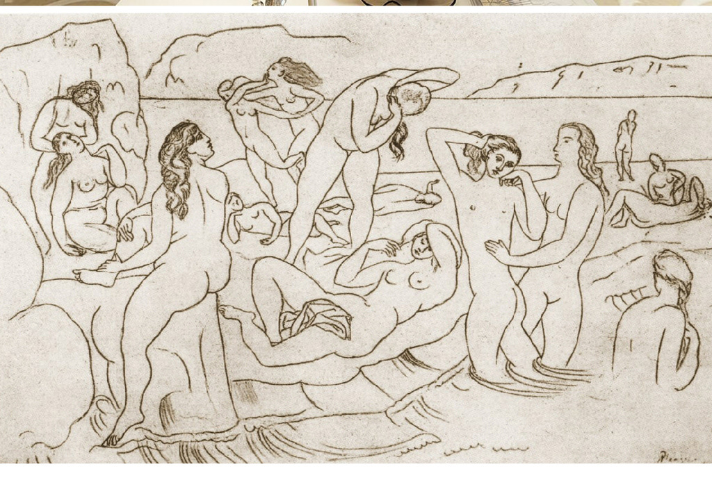 达芬奇手绘裸体女孩素描