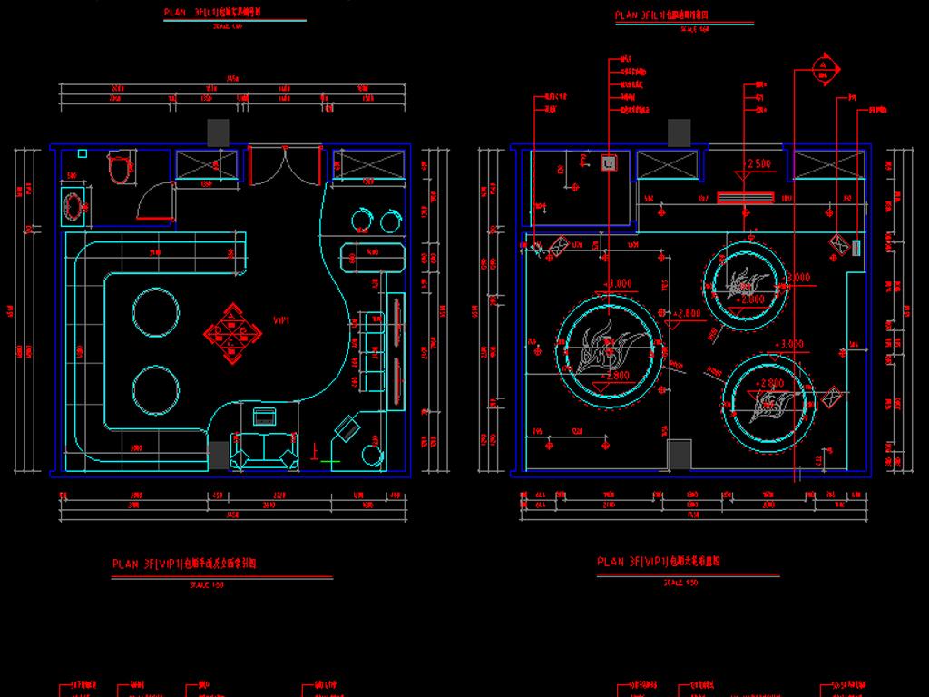 ktv全套立面设计图