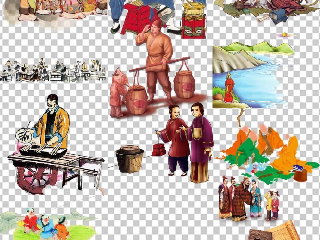 50余款古代历史名人人物PNG透明背景图片素材 模板下载 106.18MB 图片