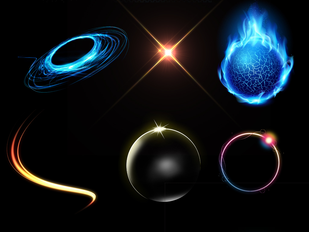 圆形光圈光效炫光光影科技背景素材