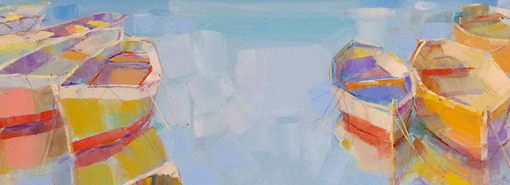 蓝色海洋帆船绘画装饰画图片