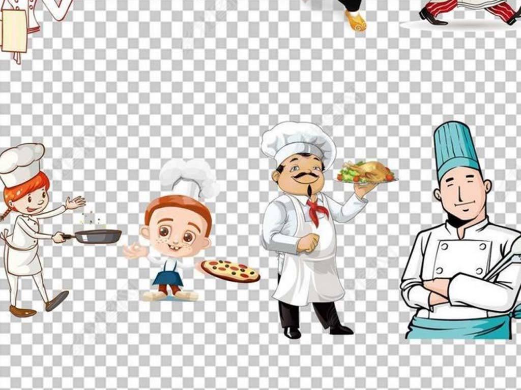100款卡通厨师人物吃货炒菜png素材图片