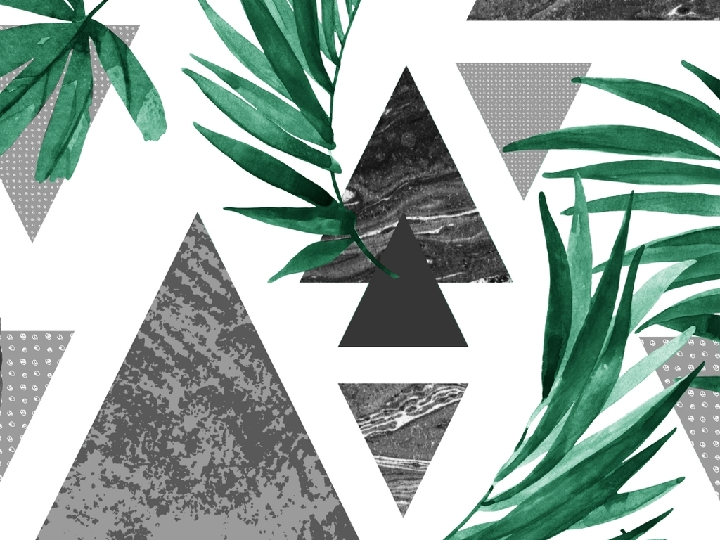 无框画 植物花卉无框画 > 北欧水彩植物装饰画热带植物手绘水彩现代