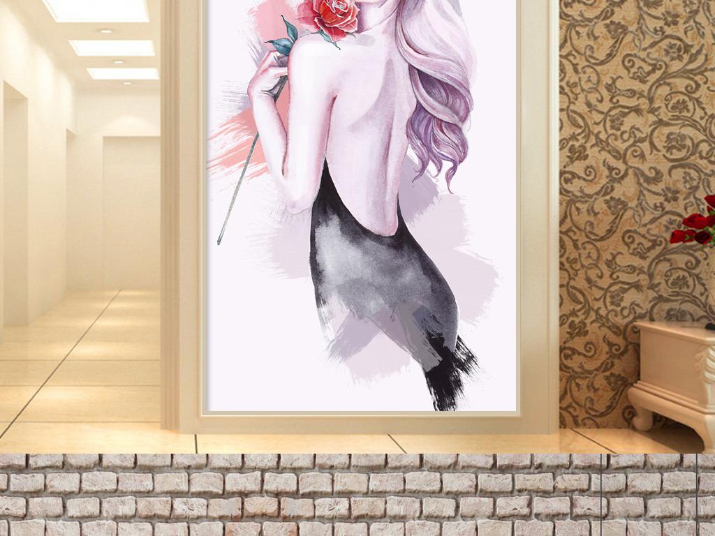 性感手绘美女装饰画