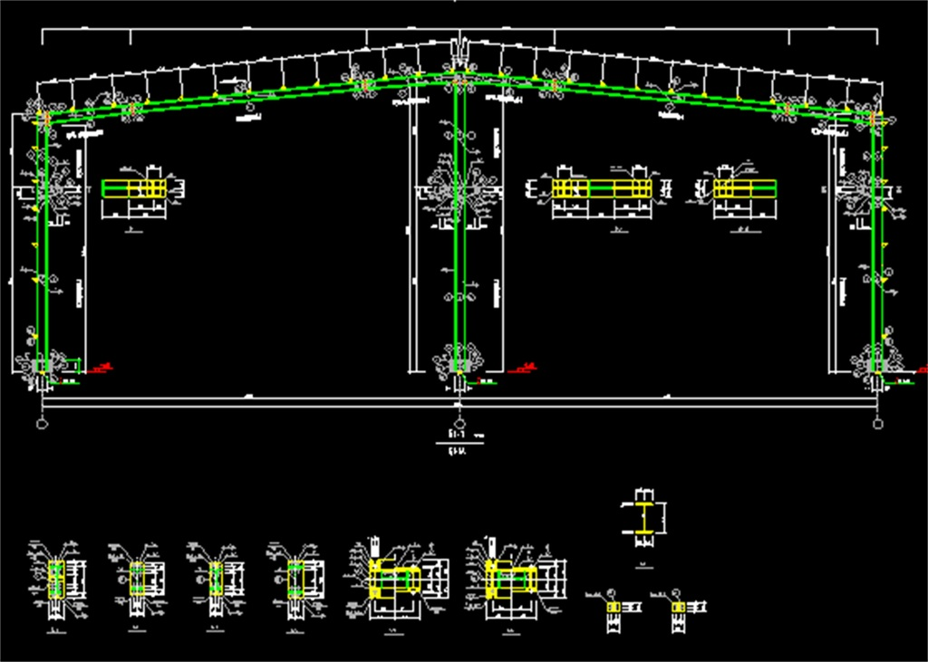 仓库钢结构cad施工图平面设计图下载(图片0.64mb)_cad
