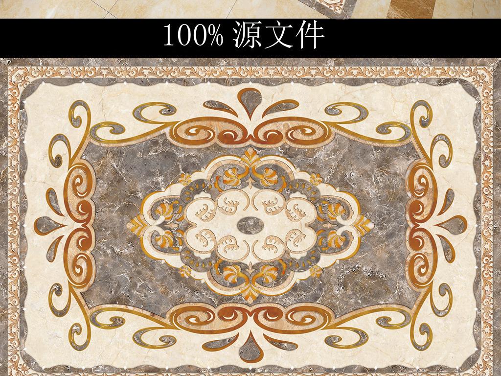 高清欧式花纹地砖拼花 1