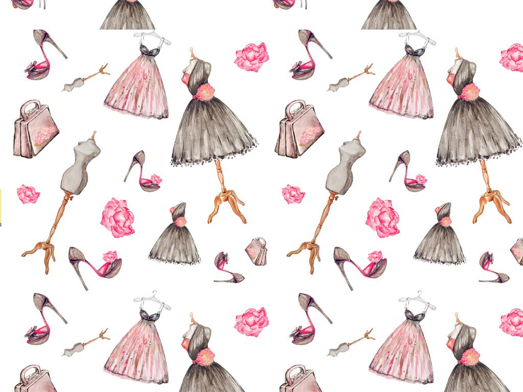 卡通q版公主png海报素材灰姑娘连衣裙