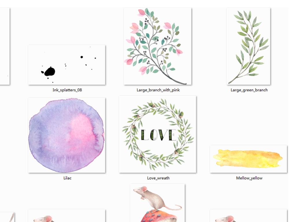 可爱卡通小动物装饰画矢量设计素材