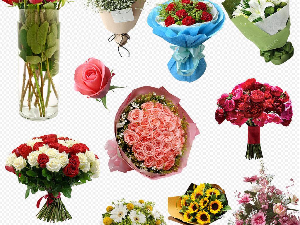 手绘玫瑰鲜花花束康乃馨百合手捧花png图片素材 模板下载 59.06MB 效果大全 其他