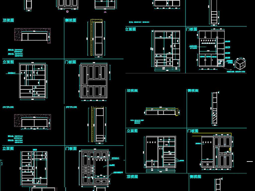 cad常规家具设计图纸柜子大全平面图下载(图片2.76mb)