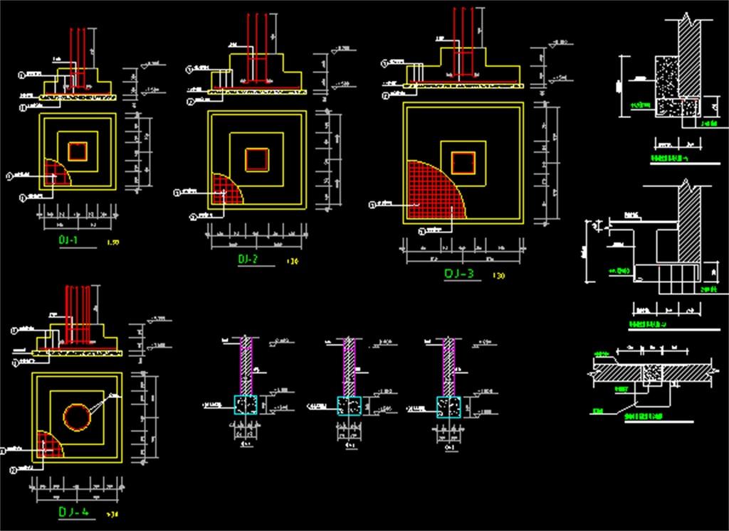 超市框架结构cad施工图