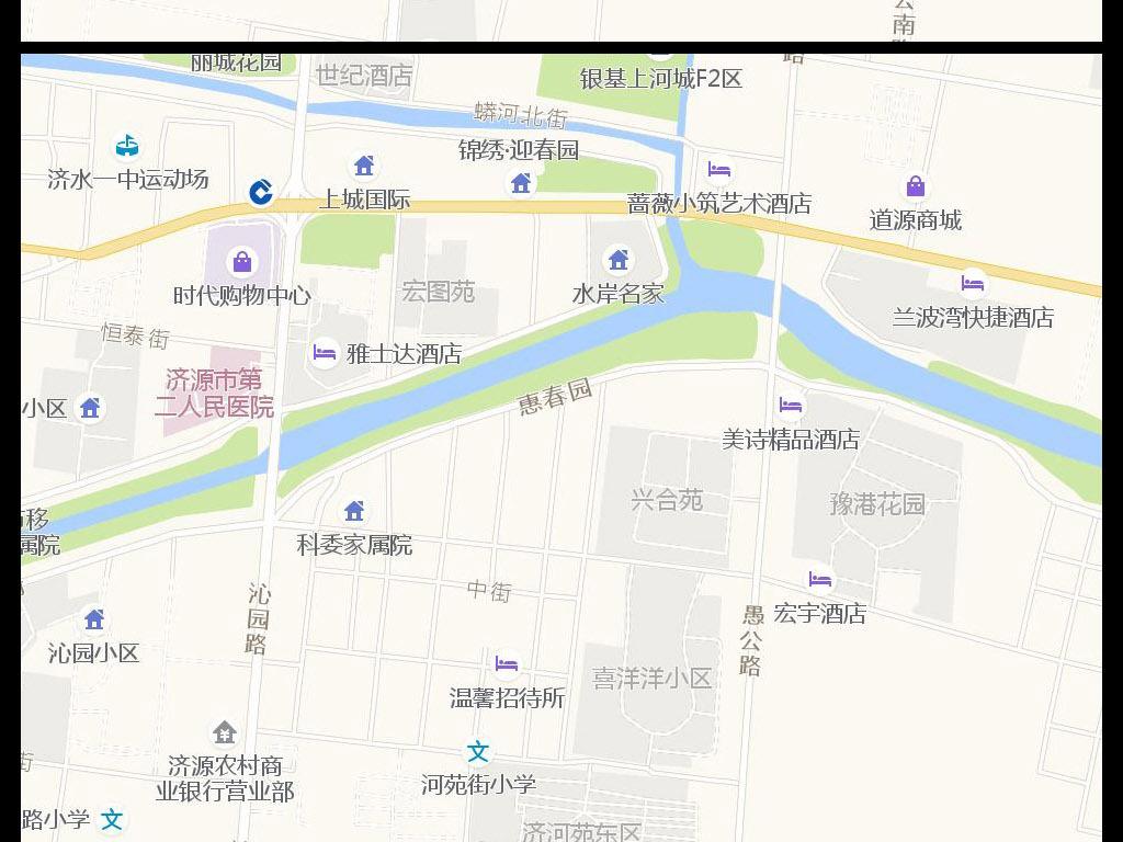 2017高清济源市中心城区地图图片下载