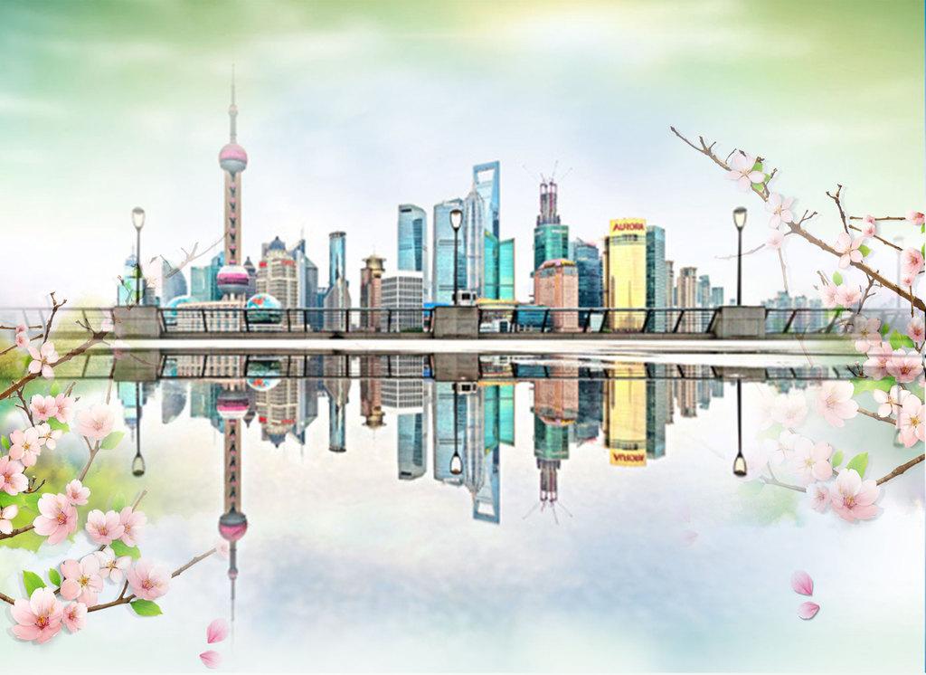 东方明珠上海地标建筑物素材