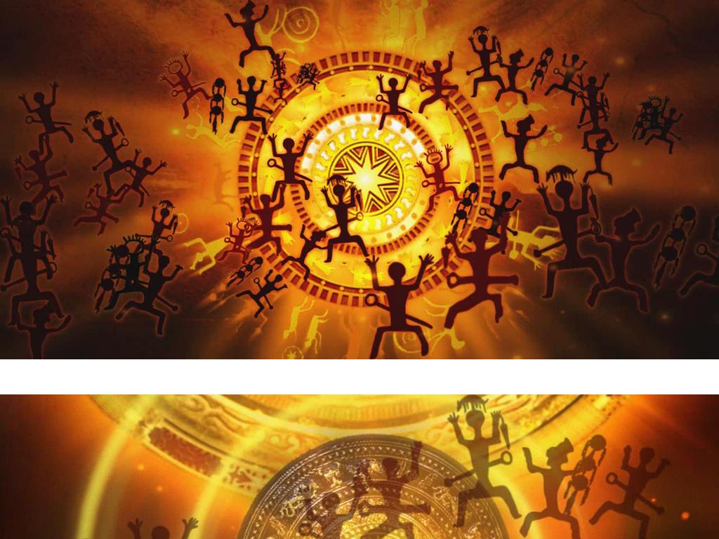 族铜鼓广西宁明花山壁画类视频素材模板 高清MP4格式下载 视频36.