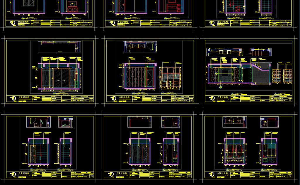 精品别墅样板房家装CAD施工图效果图平面施工设计图下载 40.99MB