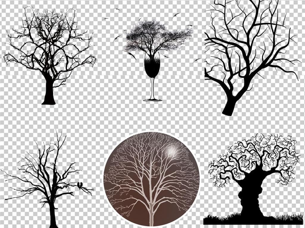 枯树树枝树干海报设计背景png免扣素材
