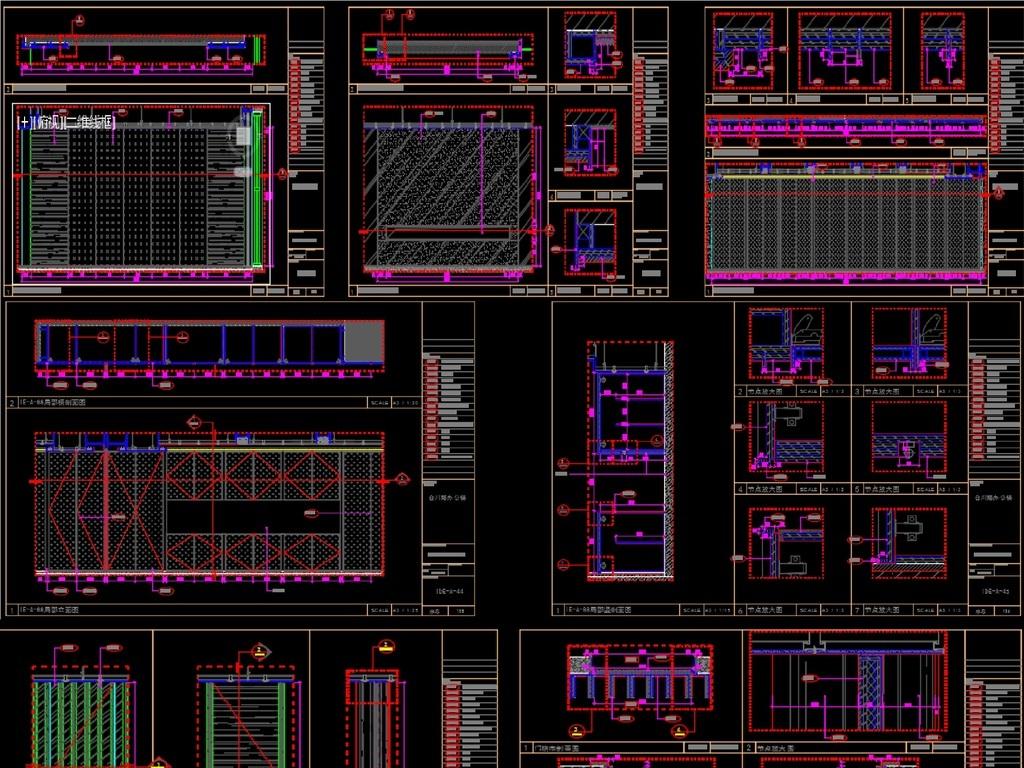 高端办公空间施工图CAD带效果图平面设计图下载 图片5.35MB 工装施图片