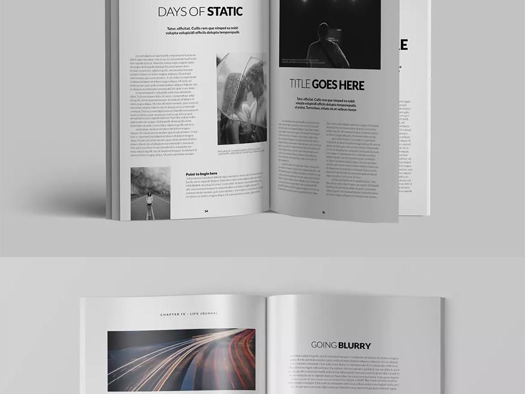 时尚潮流服装品牌手册杂志设计模板图片