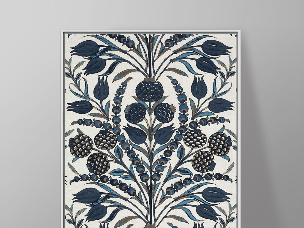 无框画 植物花卉无框画 > 帝王花欧式复古手绘花卉抽象奢华家居装饰画