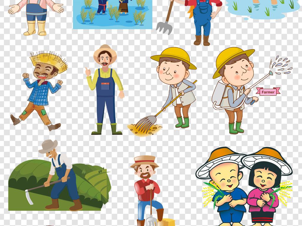 卡通手绘农民伯伯png免扣素材图片下载png素材 其他图片