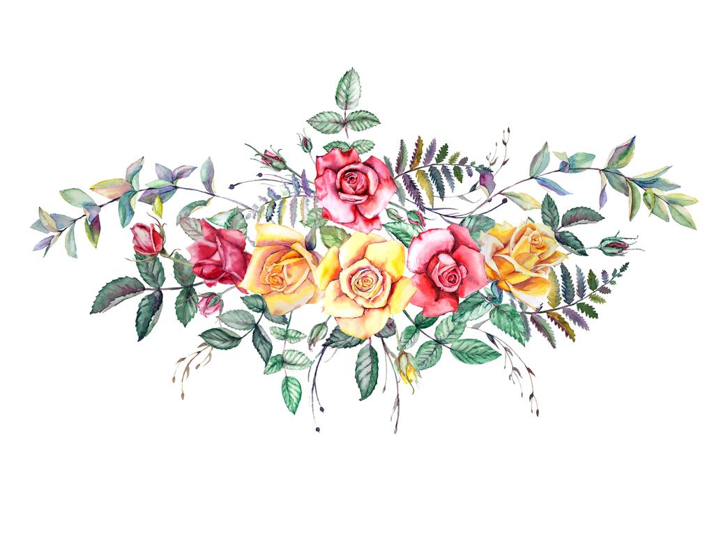 手绘水彩PNG剪贴画花卉图片下载png素材 花卉