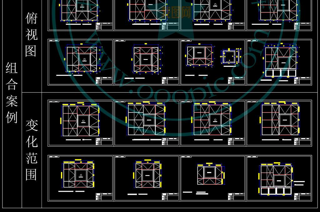 榻榻米设计CAD规范工艺方案平面图下载 图片7.01MB CAD图纸大全