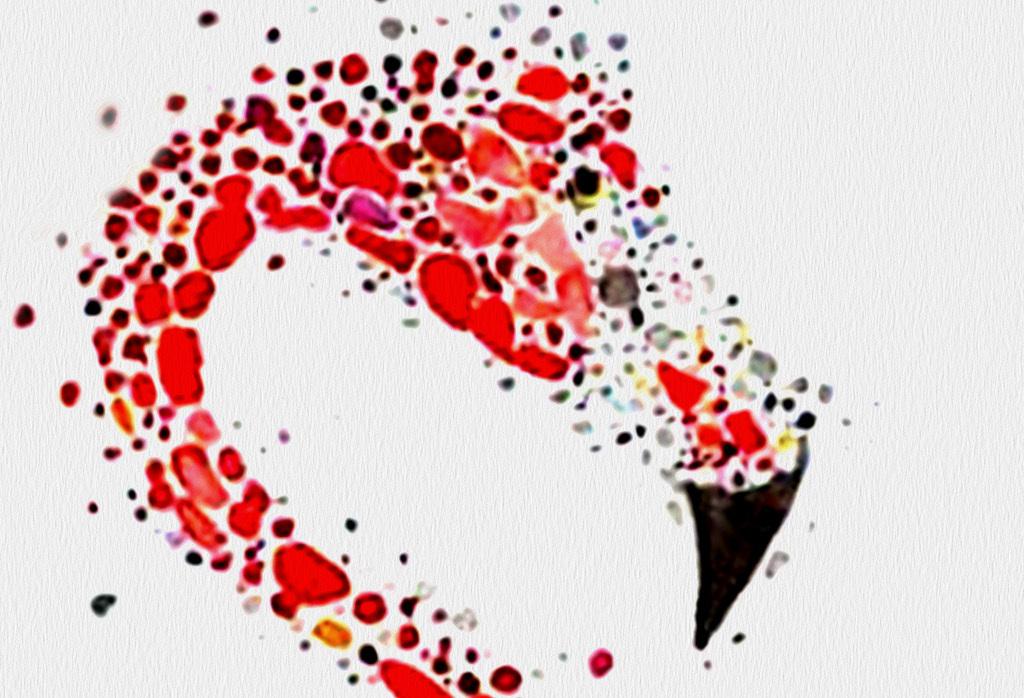 现代火烈鸟手绘北欧装饰画三联无框画