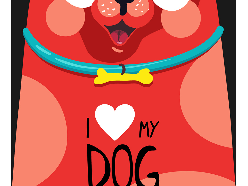 狗年企业宠物店时尚儿童相册封面可爱q版卡通狗卡通吉祥物大吉萌手绘