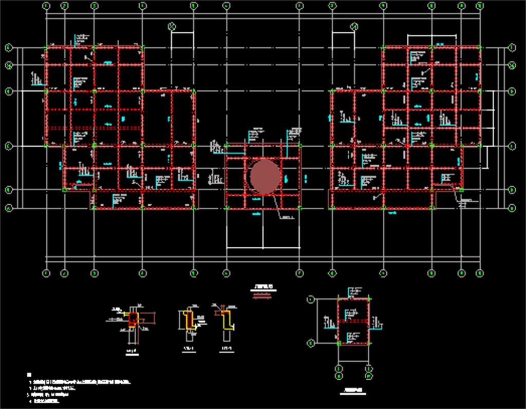 cad图库 室内设计cad图库 cad图纸 > 办公楼cad结构设计图
