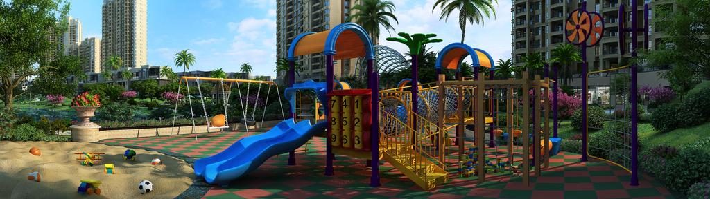 小区公园儿童游乐场滑梯沙地3d模型设计图下载(图片.图片