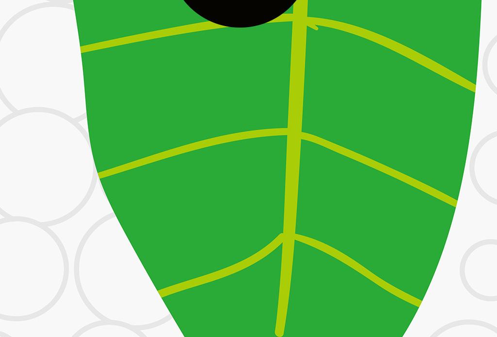 北欧简约小清新手绘叶子热带植物装饰画