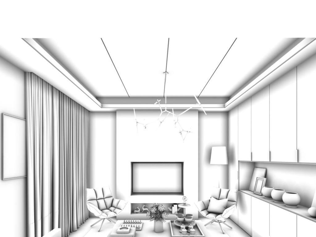 max)时尚简洁豪华现代中式欧式客厅餐厅卧室厨房厕所卫浴走廊儿童室