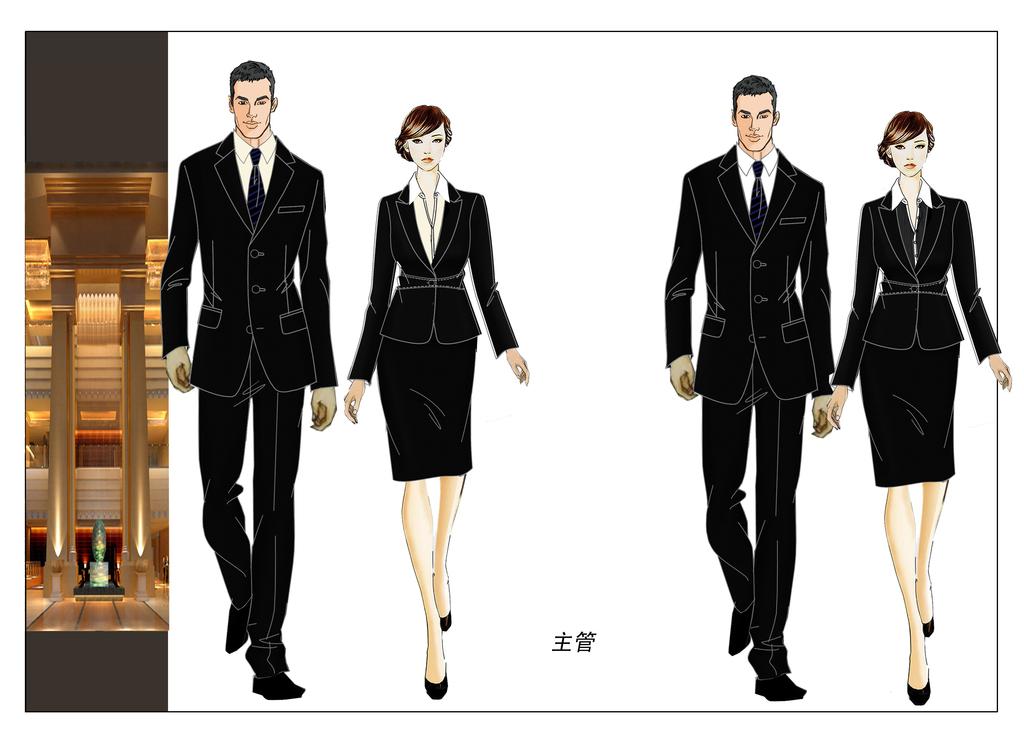 管经理高级白领服装效果图