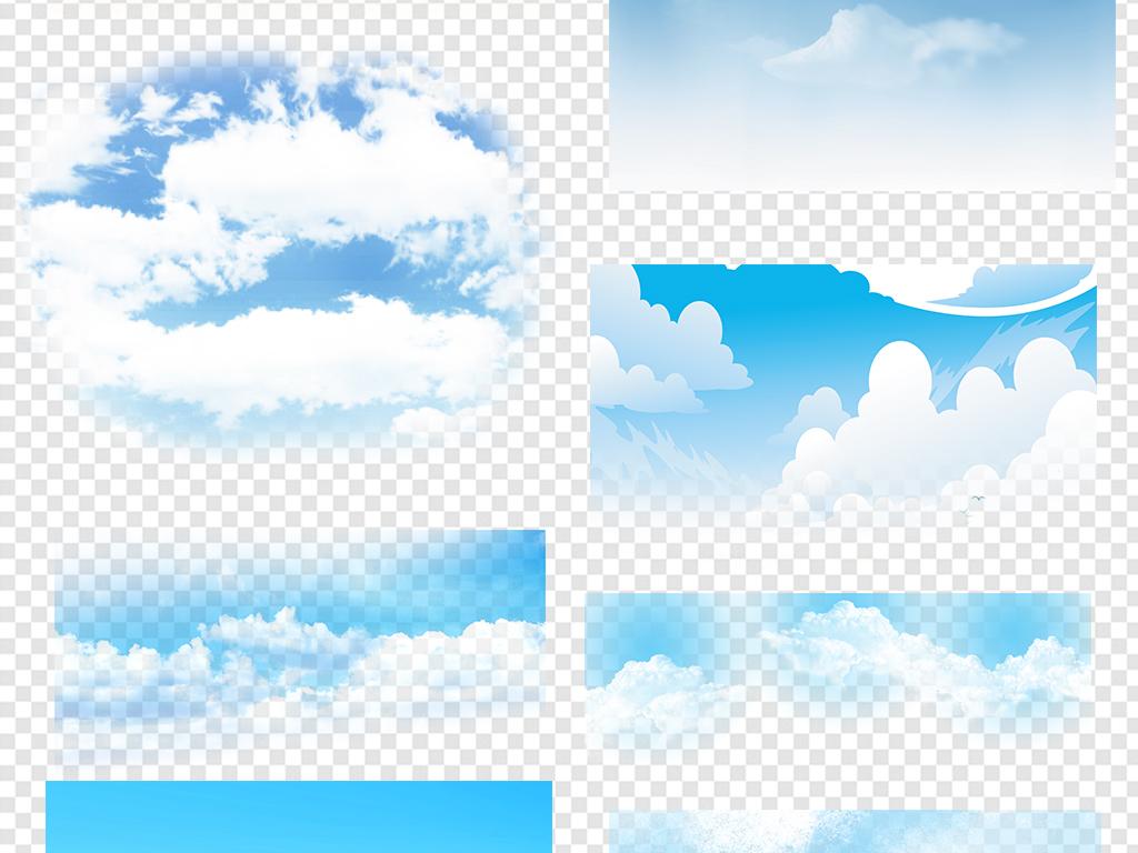 蓝天白云草地背景素材