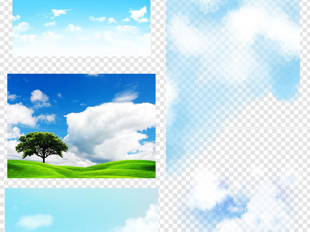 手绘蓝天白云晴朗草地蓝天白云蓝天草地白云蓝天草地素材草地背景素材