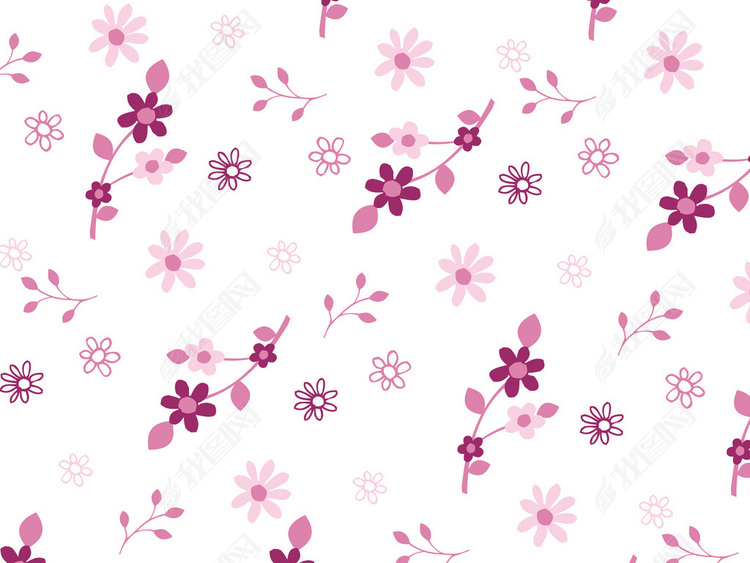 花卉花纹无缝印花图案