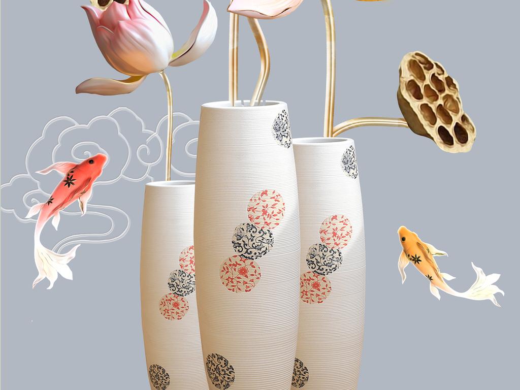 背景墙|装饰画 玄关 浮雕玄关 > 浮雕花朵花瓶玄关  素材图片参数