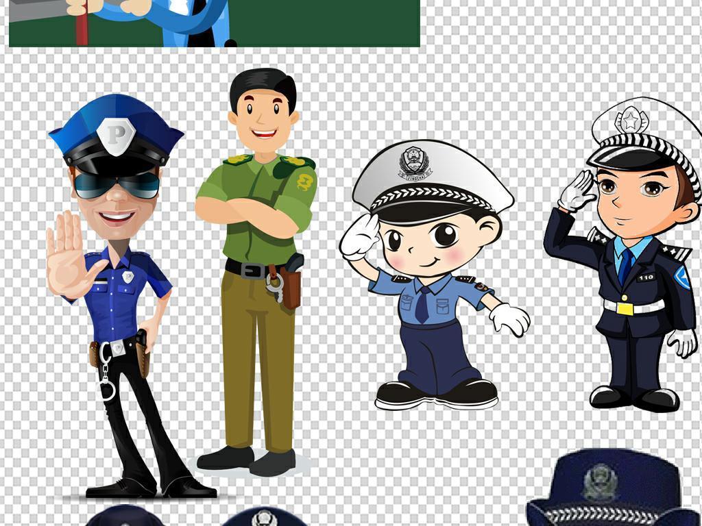 卡通警察公安交警人物图片素材